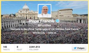 Papst Franziskus twittert unter dem Handle @Pontifex. Dies macht deutlich weniger Lärm als die bayerische Tradition des Kirchenglockenläutens.
