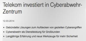 Der Preis für die häufigste überflüssige Verwendung einer Phrase aus der Zeit, als Helmut Kohl noch Kanzler war, geht an: die Deutsche Cyberkom. Wir gratulieren.